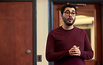 """Basil Masri Zada, an Interdisciplinary Arts Doctoral Student from the College of Fine Arts presents his thesis entitled """"Practices of Everyday Life and the Syrian Body in Syrian art of the Syrian Crisis since 2011""""."""