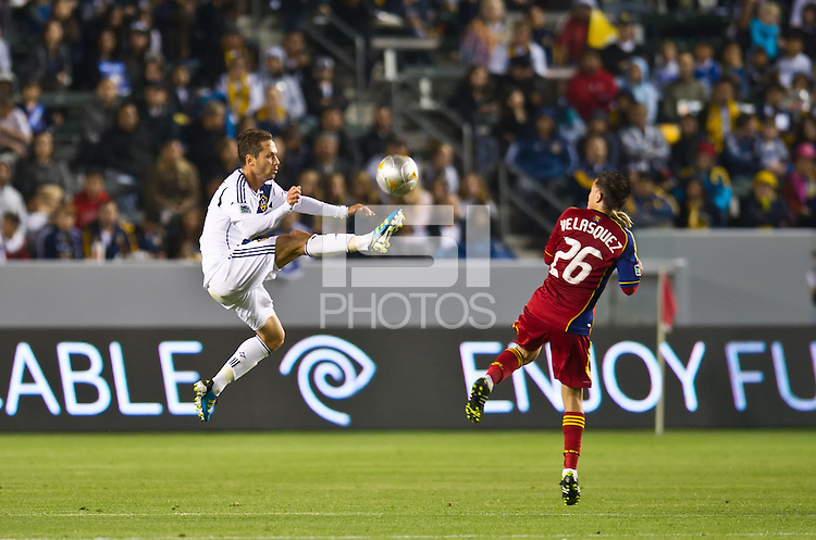 CARSON, CA - March 10,2012: LA Galaxy midfielder Marcelo Sarvas (8) against Real Salt Lake at the Home Depot Center in Carson, California. Final score LA Galaxy 1, Real Salt Lake 3.