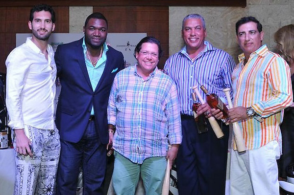 Karim Abu Naba'a, David Ortiz, Alex del Nogal, Andrés Galarraga y George Nader