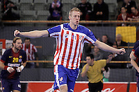 BM Atletico de Madrid's Nikolaj Markussen celebrates during ASOBAL League match.December 08 ,2012. (ALTERPHOTOS/Acero) /NortePhoto