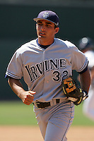 June 5, 2010: D.J. Crumlich of UC Irvine during NCAA Regional game against Kent State at Jackie Robinson Stadium in Los Angeles,CA.  Photo by Larry Goren/Four Seam Images