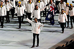 Olympic team of Australia during the parade of nations at the Opening ceremony of the 2014 Sochi Olympic Winter Games at Fisht Olympic Stadium on February 7, 2014 in Sochi, Russia. Photo by Victor Fraile / Power Sport Images