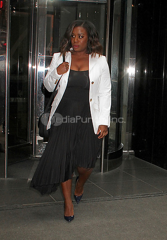 NEW YORK, NY - APRIL 19: Uzo Aduba, star of 'Orange is the New Black' seen in New York, New York on April 19 , 2017. Photo Credit: Rainmaker Photo/MediaPunch