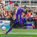 15 November 2015: University of Vermont Catamount Goalkeeper Greg Walton, a Junior from Brunswick, Maine, in action against the Binghamton University Bearcats at Virtue Field in Burlington, Vermont. The Catamounts shut out the Bearcats 1-0 in the America East Championship Game. Mandatory Credit: Ed Wolfstein Photo *** RAW (NEF) Image File Available ***