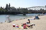 Memorial Beach in July in Healdsburg