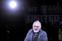 www.acepixs.com<br /> January 19, 2017  New York City<br /> <br /> Robert De Niro speaks onstage during the We Stand United NYC Rally outside Trump International Hotel &amp; Tower on January 19, 2017 in New York City.<br /> <br /> Credit: Kristin Callahan/ACE Pictures<br /> <br /> Tel: 646 769 0430<br /> Email: info@acepixs.com