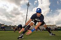 18 September 2012: France Emmanuel Garcia stretches during Team France practice, at the 2012 World Baseball Classic Qualifier round, in Jupiter, Florida, USA.