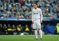 FUSSBALL   CHAMPIONS LEAGUE   SAISON 2011/2012  Achtelfinale Rueckspiel 14.03.2012 Real Madrid  - ZSKA Moskau  Mesut Oezil (lReal Madrid) nachdenklich