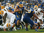BROOKINGS, SD - SEPTEMBER 14:  Zach Zenner #31 from South Dakota State University steps into the end zone for a touchdown against Southeastern Louisiana in the first quarter of their game Saturday night at Coughlin Alumni Stadium in Brookings. (Photo by Dave Eggen/Inertia)