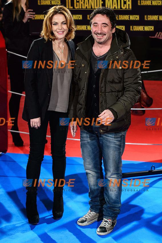 Claudia Gerini, Federico Zampaglione <br /> Roma 07-01-2014 Cinema The Space Moderno <br /> Grudge Match - Il Grande Match Premiere<br /> Foto Andrea Staccioli / Insidefoto