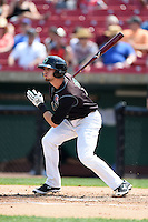 Kane County Cougars second baseman Danny Lockhart (7) at bat during a game against the Quad Cities River Bandits on August 20, 2014 at Third Bank Ballpark in Geneva, Illinois.  Kane County defeated Burlington 7-3.  (Mike Janes/Four Seam Images)