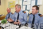 GARDAI: Speaking to the media at the Garda Press Conference in Killorglin Garda Station on Monday, l-r: Superintendent Pat OSullivan, Superintendent John Gilligan of the Garda Press Office, Inspector Donal Ashe
