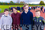 Corey Moriarty, Caoilfhionn Corry, Maurice O'Connor and Jason O'Sullivan, students from Killorglin Community College, pictured at the Kerry ETB Athletics event at An Riocht, Castleisland on Friday last.