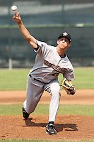 Jordan Lyles of the Greeneville Astros pitching.against the Princeton Devil Rays in an Appalachian League game at Hunnicutt Field in Princeton, WV on July 20, 2008