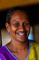 Kanak (Melanesian) women, Hotel Nengone Village, island of Mare, Loyalty Islands, New Caledonia