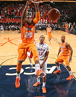 Tennessee forward Kenny Hall (20) dunks the ball during the game Wednesday in Charlottesville, VA. Virginia defeated Tennessee 46-38.