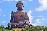 Tian Tin Buddha - the worlds's tallest outdoor seated bronze Buddha located in Hong Kong.