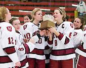 Ashley Wheeler (Harvard - 12), Kelsey Romatoski (Harvard - 5), Anna McDonald (Harvard - 10), Kathryn Farni (Harvard - 8), ? - The Harvard University Crimson defeated the Northeastern University Huskies 1-0 to win the 2010 Beanpot on Tuesday, February 9, 2010, at the Bright Hockey Center in Cambridge, Massachusetts.