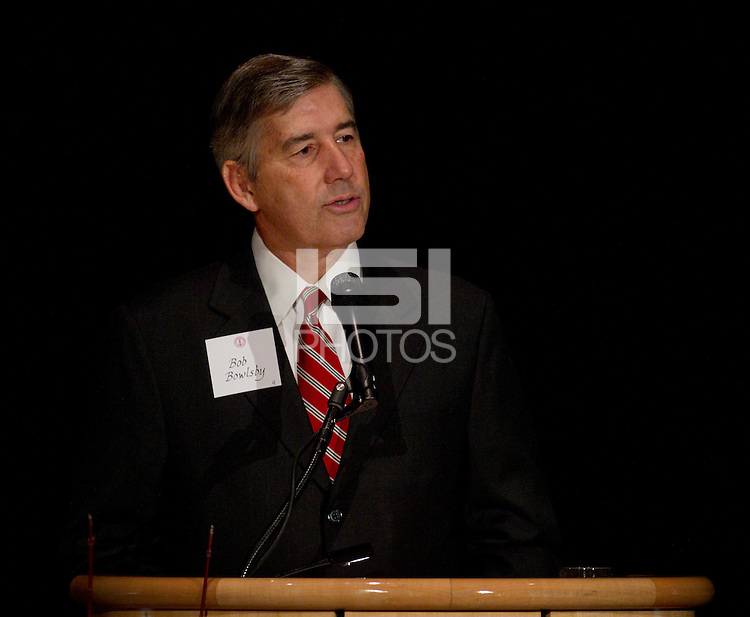 Bob Bowlsby, The Jaquish & Kenninger Director of Athletics at Stanford Univerisity  at Stanford Athletics Hall of Fame, event on November 11, 2011, at the Alumni Center.  ( Norbert von der Groeben )