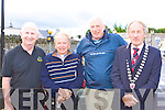 Former Ireland and Lions legend Moss Keane Currow starts the 2009 Ring of Kerry cycle in Killarney Saturday morning with Cathal Walsh, Bishop Bill Murphy and Killarney Mayor Michael Gleeson .