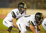 Inglewood, CA 10/09/14 - Jacob Rathbun (Peninsula #51) and Daniel Schubert (Peninsula #18) in action during the Palos Verdes Peninsula vs Morningside CIF Varsity football game at Coleman Field in Inglewood.  Peninsula defeated Morningside 24-13.