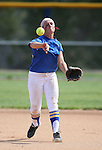 Western Nevada College Wildcats' Makaylee Jaussi makes play during a preseason softball game against Shasta College in Reno, Nev., on Saturday, Sept. 20, 2014.<br /> Photo by Cathleen Allison