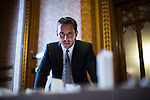 © Joel Goodman - 07973 332324 - all rights reserved . No onward sale/supply/syndication permitted . 28/07/2016 . Manchester , UK . GARY NEVILLE looks at the proposed model . Launch of the St Michael's city centre development , at the Lord Mayor's Parlour in Manchester Town Hall . Backed by The Jackson's Row Development Partnership (comprising Gary Neville , Ryan Giggs and Brendan Flood ) along with Manchester City Council , Rowsley Ltd and Beijing Construction and Engineering Group International , the Jackson's Row area of the city centre will be redeveloped with a design proposed by Make Architects . Photo credit : Joel Goodman