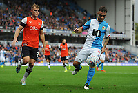 Blackburn Rovers' Adam Armstrong under pressure from Luton Town's James Bree<br /> <br /> Photographer Kevin Barnes/CameraSport<br /> <br /> The EFL Sky Bet Championship - Blackburn Rovers v Luton Town - Saturday 28th September 2019 - Ewood Park - Blackburn<br /> <br /> World Copyright © 2019 CameraSport. All rights reserved. 43 Linden Ave. Countesthorpe. Leicester. England. LE8 5PG - Tel: +44 (0) 116 277 4147 - admin@camerasport.com - www.camerasport.com
