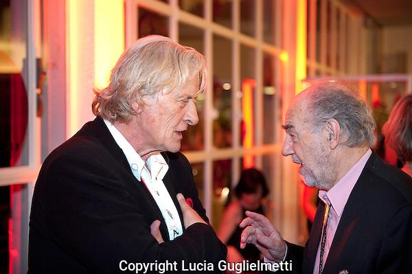 Utrecht , october 5, 2012.NFF Utrecht, .gala.Rutger Hauer, George Sluizer...Photo: Lucia Guglielmetti