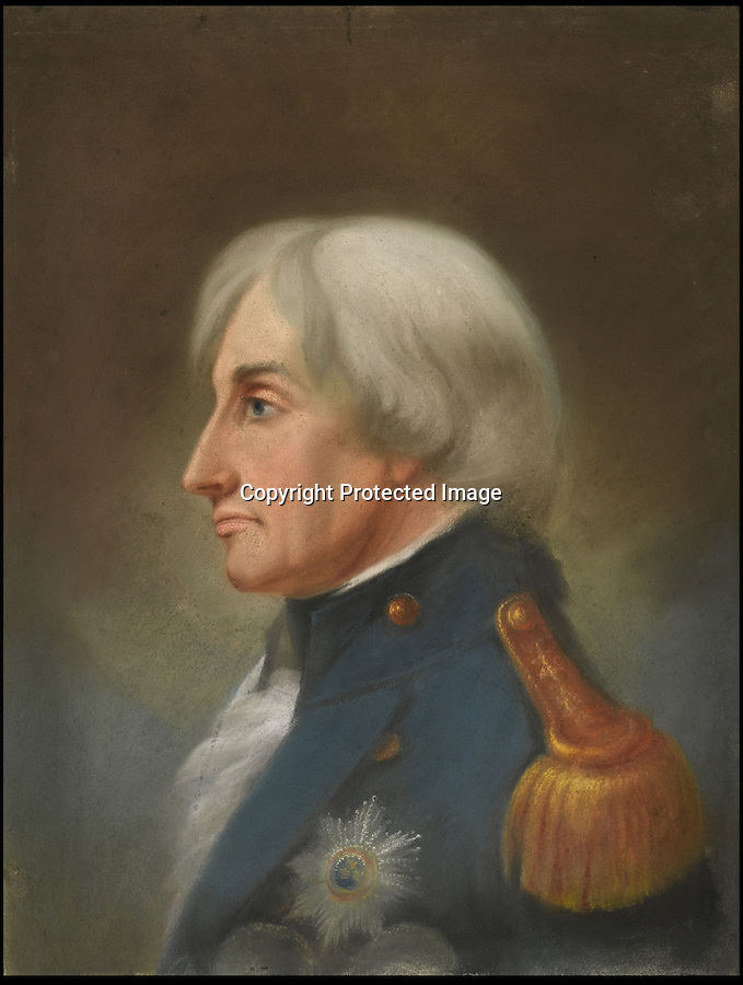 BNPS.co.uk (01202 558833)<br /> Pic: Sothebys/BNPS<br /> <br /> The last ever portrait of Admiral Lord Nelson painted before he was killed in the Battle of Trafalgar has emerged for sale for 30,000 pounds.<br /> <br /> Nelson, Britain's greatest Sea Lord, had been on a short visit to his home in Merton, London, in September 1805 when he was painted by John Whichelo.<br /> <br /> While at his home, Nelson began plans for the Battle of Trafalgar and also said his goodbyes to lover Lady Emma Hamilton.<br /> <br /> But just a month later, he was killed in action has he led the British navy to their famous win over Napoleon's forces.<br /> <br /> The profile portrait depicts a grey-haired Nelson in Vice-Admiral's undress uniform with the Star of the Order of the Bath pinned to his chest.<br /> <br /> The order was presented to Nelson following the British victory at Cape St Vincent in 1797, and it was pinned to his uniform when he was shot dead at Trafalgar.<br /> <br /> In 1838 Whichelo presented the portrait to Admiral William Parker after teaching his son to paint.<br /> <br /> It has remained in the Parker family ever since.<br /> <br /> The portrait is expected to fetch £30,000 when it goes under the hammer.