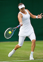 24-06-13, England, London,  AELTC, Wimbledon, Tennis, Wimbledon 2013, Day one, Yaroslava Shvedova (KAZ)<br /> <br /> <br /> <br /> Photo: Henk Koster