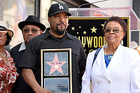Ice Cube &amp; parents at the Hollywood Walk of Fame star ceremony honoring actor/musician Ice Cube, Los Angeles, USA 12 June  2017<br /> Picture: Paul Smith/Featureflash/SilverHub 0208 004 5359 sales@silverhubmedia.com