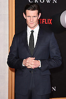 """Matt Smith<br /> at the World Premiere of the Netflix series """"The Crown"""" at the Odeon Leicester Square, London.<br /> <br /> <br /> ©Ash Knotek  D3192  01/11/2016"""