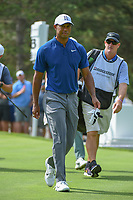 Tiger Woods (USA) heads down 13 during 1st round of the World Golf Championships - Bridgestone Invitational, at the Firestone Country Club, Akron, Ohio. 8/2/2018.<br /> Picture: Golffile | Ken Murray<br /> <br /> <br /> All photo usage must carry mandatory copyright credit (© Golffile | Ken Murray)