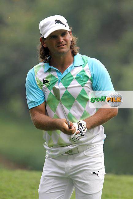 Johan Edfors (SWE) on the 17th during Round 1 of the 2013 Maybank Malaysian Open, Kuala Lumpur Golf and Country Club, Kuala Lumpur, Malaysia 21/3/13...(Photo Jenny Matthews/www.golffile.ie)