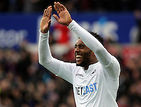 Leroy Fer of Swansea City celebrates the first goal scored by their team during the Premier League match between Swansea City and Burnley at The Liberty Stadium, Swansea, Wales, UK. Saturday 04 March 2017