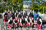 New Market pipe band with king Puck Getting ready for the parade at  Puck Fair on Monday