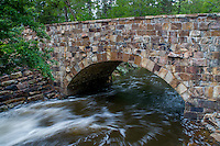Stone bridge built by the CCC from native rock at Petit Jean State Park near Morilton Arkansas.