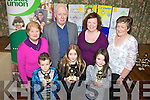POSTERS: Winners of the Milltown Credit Union Poster Competition (7 and under category) receiving their prizes at Castlemaine Community Centre last week, front l-r: Ethan Hunt, Keeley Mangan, Caitli?n Quirke. Back l-r: Mary Prendergast, Tony Powell, Debra O'Brien, Mary O'Shea.