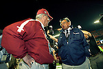 Florida State head coach Bobby Bowden greets Penn State head coach Joe Paterno prior to the game when the 3rd ranked Penn State Nittany Lions defeated the 22nd ranked Florida State Seminoles 26-23 in a triple overtime game between college football's winningest coach Bobby Bowden (359) and Joe Paterno (354) who got one game closer at the FedEx Orange Bowl January 3, 2006 in Miami, Florida.    (Mark Wallheiser/TallahasseeStock.com)