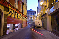 La boucherie Saint-FranÁois, le vieux Nice, 5 June 2009. Founded in 1959, it is one of the most popular butcher's shops in Nice, France.