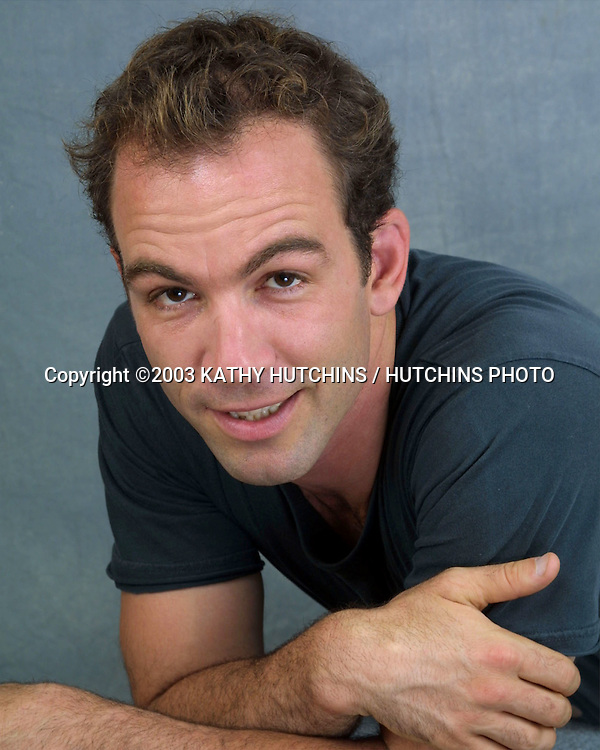 """©2003 KATHY HUTCHINS / HUTCHINS PHOTO.EXCLUSIVE STUDIO SESSION.WITH CAST OF """"FISH WITHOUT A BICYCLE"""" .BURBANK, CA.JULY 26, 2003..BRYAN CALLEN"""