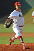 Johnson City Cardinals Jeff Nadeau at Howard Johnson Field in Johnson City, Tennessee July 6, 2010.   Johnson City won the game 6-5.  Photo By Tony Farlow/Four Seam Images