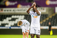 Monday 11 September 2017<br /> Pictured: Wilfried Bony applauds fans as he leaves the pitch <br /> Re: Swansea U23 v Derby U23 PL2 Match at the Liberty Stadium Swansea