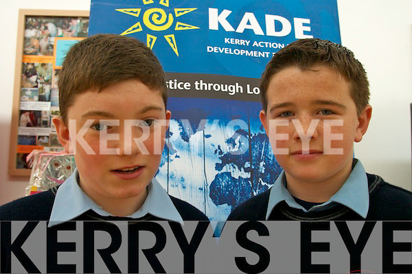 DEVELOPMENT: At the Kerry Action on Development Education Cluster Day for schools last Friday were Pobal Scoil Sliabh Luachra, Rathmore students Peter Falvey and Daniel M. Murphy.   Copyright Kerry's Eye 2008