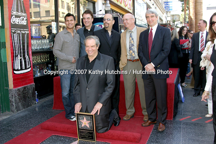 Dick Wolf, with talent from his shows including.Chris Noth, Ice-T, Dann Florek, and Sam Waterston.Dick Wolf receives Star on the Walk of Fame.Hollywood Blvd.Los Angeles, CA.March 29, 2007.©2007 Kathy Hutchins / Hutchins Photo....