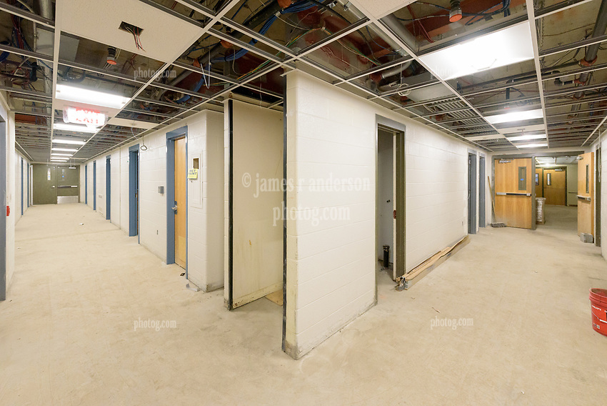 Major Renovation Litchfield Hall WCSU Danbury CT<br /> Connecticut State Project No: CF-RD-275<br /> Architect: OakPark Architects LLC  Contractor: Nosal Builders<br /> James R Anderson Photography New Haven CT photog.com<br /> Date of Photograph: 28 February 2017<br /> Camera View: 23 - Second Floor, Southeast Corner Corridors