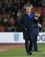 Italy U21 Manager Luigi Di Biagio during the Under 21 International Friendly match between England and Italy at St Mary's Stadium, Southampton, England on 10 November 2016. Photo by Andy Rowland.
