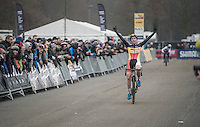 victory for Sanne Cant (BEL/Enertherm-Beobank)<br /> <br /> 2016 CX UCI World Cup Zeven (DEU)