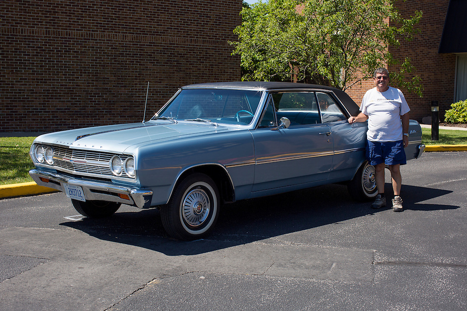 1965 Trailered Restored Chevelle Junior (#67) – 1965 Chevrolet Chevelle Malibu 2-Door Hardtop registered to Jerry Tremblay is pictured during 4th State Representative Chevy Show on Thursday, June 30, 2016, in Fort Wayne, Indiana. (Photo by James Brosher)